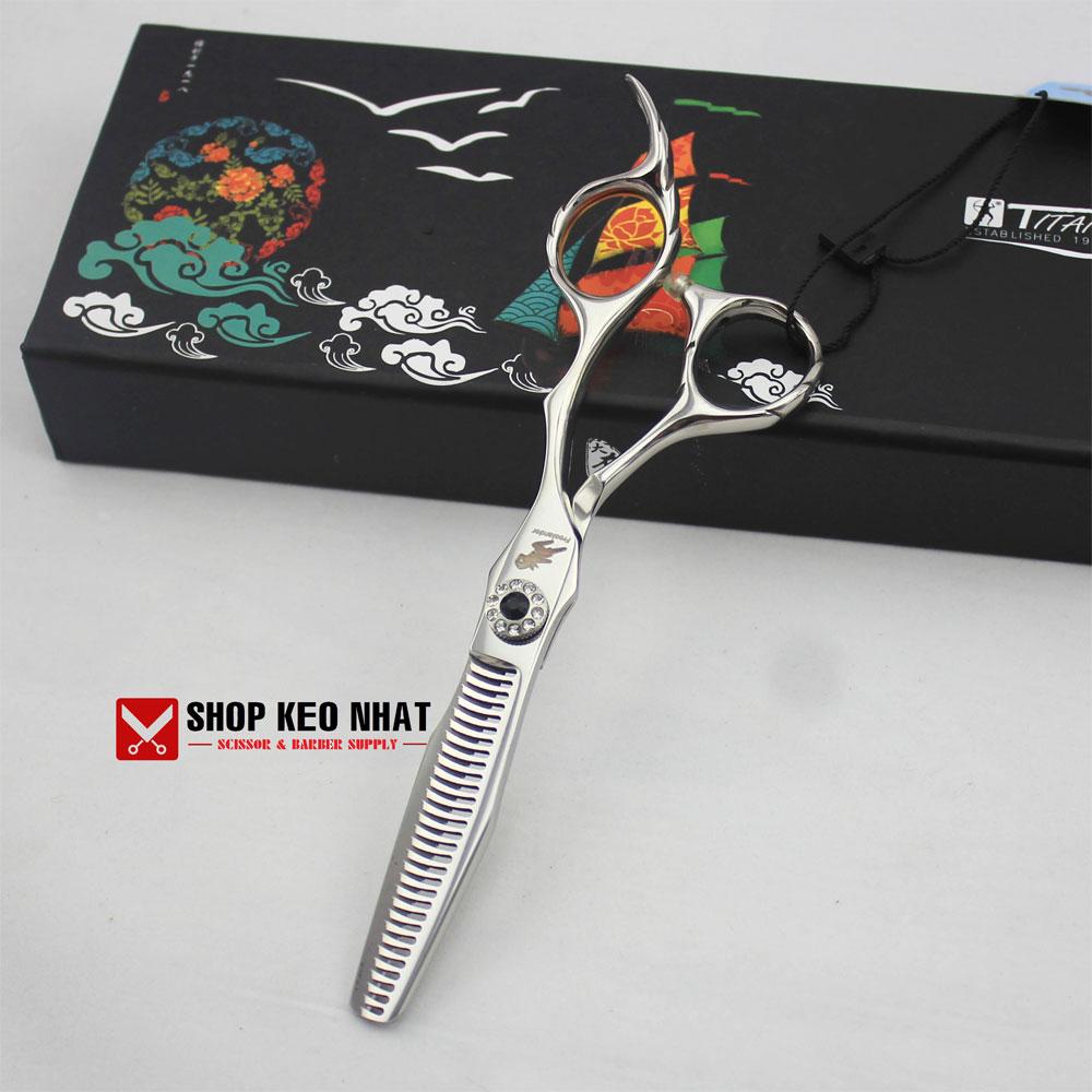 Kéo cắt tóc quai vênh