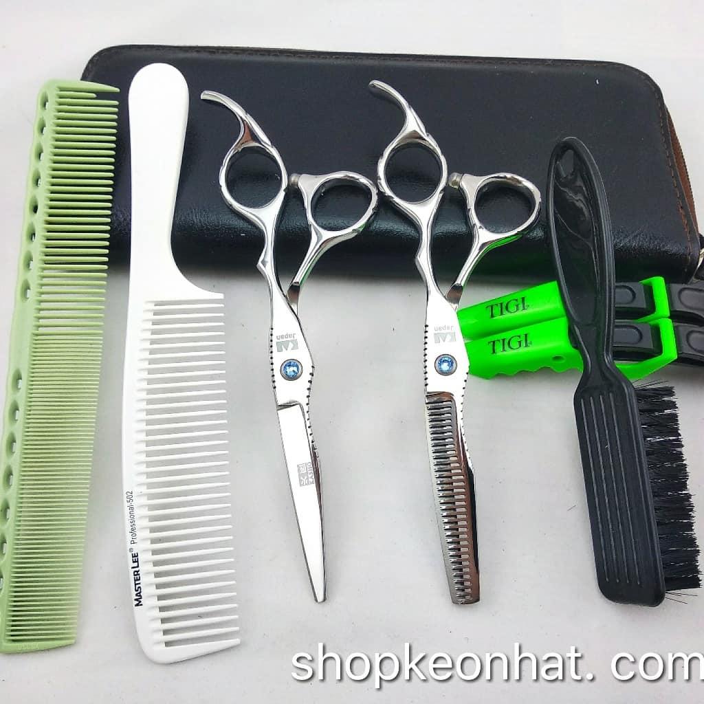 Kéo cắt tóc giá rẻ kasho quai vênh