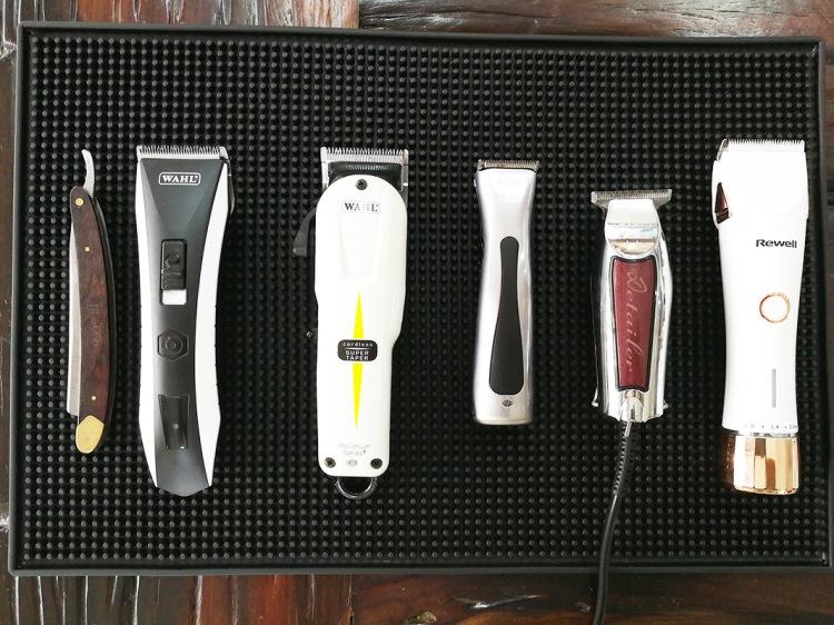 Thảm cao su để đồ nghề barber chống trượt