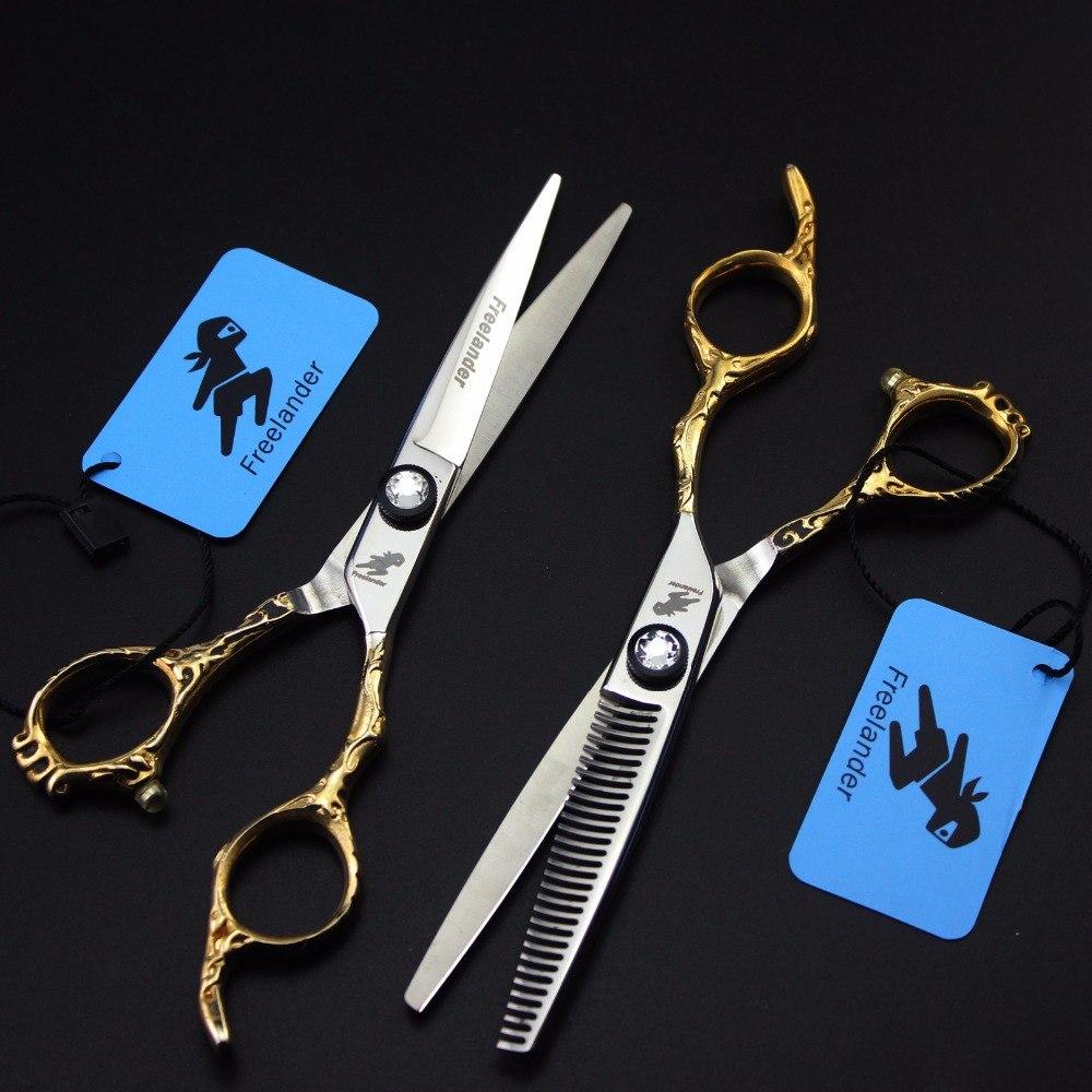 Kéo cắt tóc Freelander cán vàng