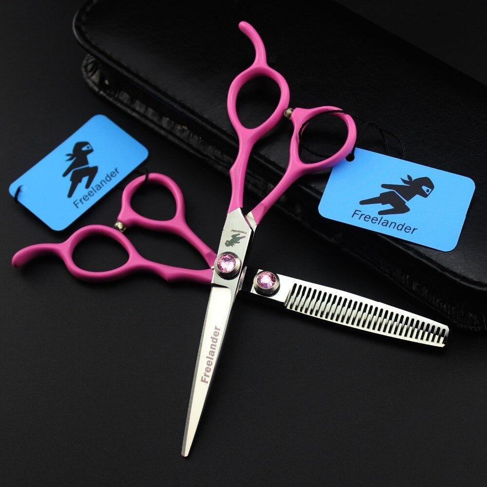 Bộ kéo cắt tóc Freelander cán hồng